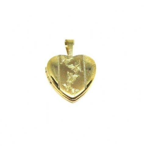 9ct Yellow Gold Butterfly Pattern Opening Locket                           2081